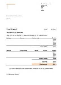 Kostenlose Vorlage Angebot Excel Kostenlose Angebotsvorlagen Office Lernen