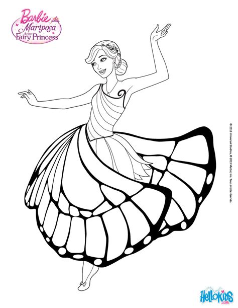 Barbie and the 12 dancing princesses coloring pages coloring online