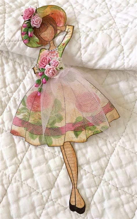 Handmade Paper Dolls - 17 best images about cards and tags prima on