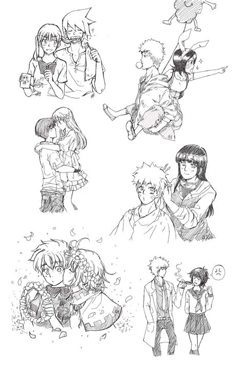 anime couples sketch by kountingsheep on deviantart
