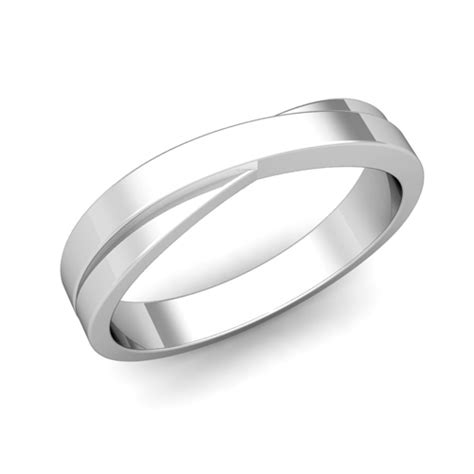 infinity mens wedding band infinity wedding band in 14k gold mens comfort fit ring 4mm