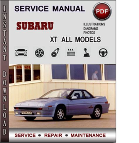 service and repair manuals 1988 subaru xt user handbook subaru xt service repair manual download info service manuals