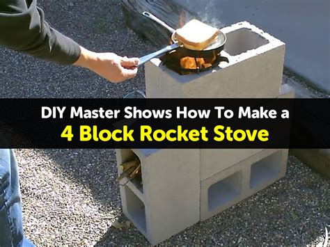 How To Build Your Own Vertical Garden - diy master shows how to make a 4 block rocket stove