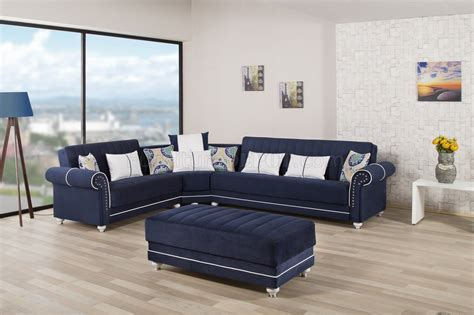 royal blue sectional royal home sectional sofa in dark blue fabric by casamode