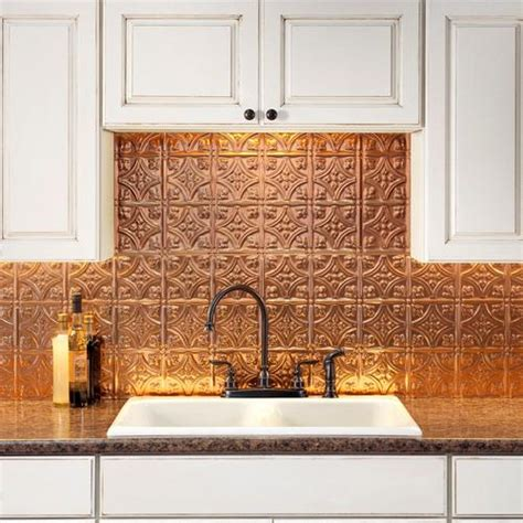 kitchen with copper accent panels my decorating style pinboard pi creative backsplash ideas to spruce up your kitchen