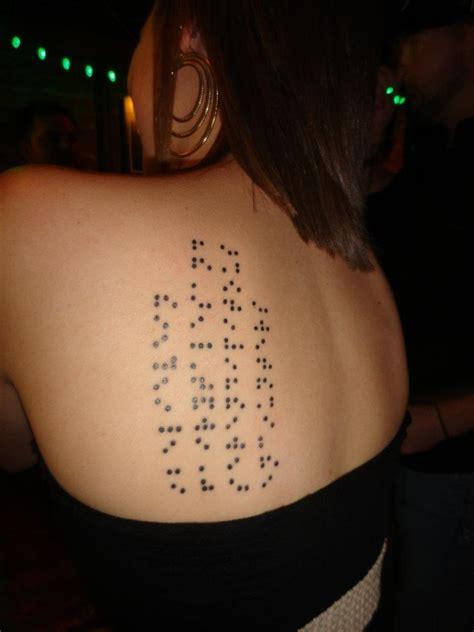 braille tattoo my braille shoulder