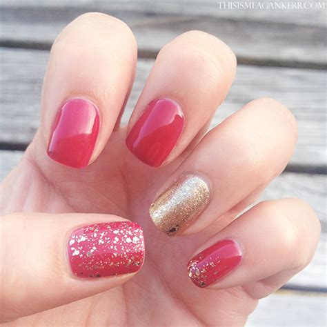 Artistic Colour Gloss L by And Gold Glitter Nails This Is Meagan Kerr