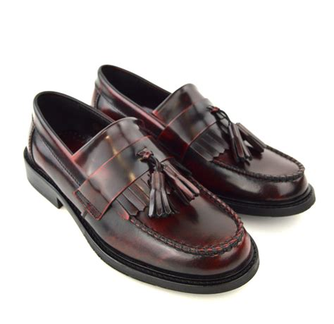 oxblood tassel loafers modshoes oxblood tassel loafers 05 mod shoes