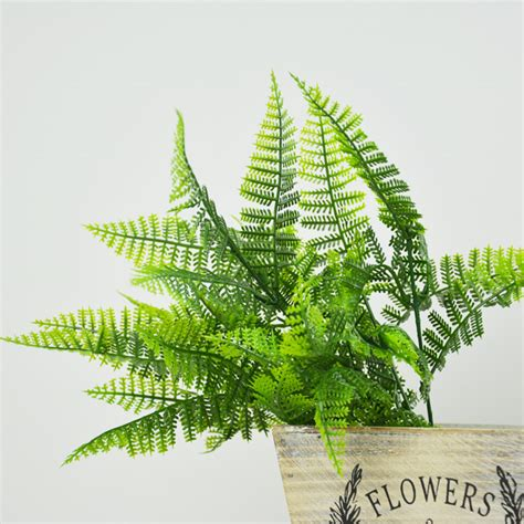 Daun Pakis Plastik Artificial G028 hijau tanaman buatan rumput plastik bunga palsu pakis daun