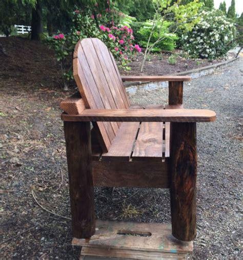 log bench legs rustic bench with log legs by ttf lumberjocks com