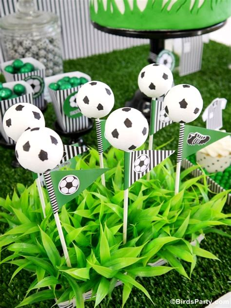 soccer theme decorations soccer football birthday desserts table printables