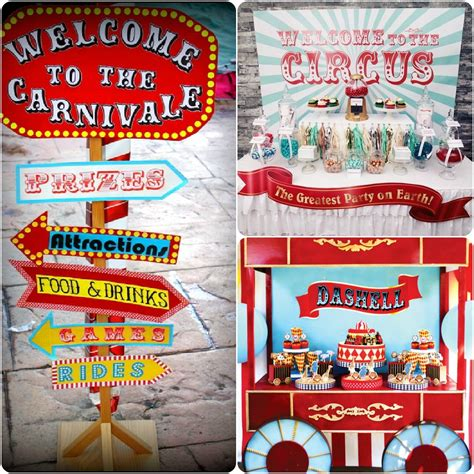 carnival themes ideas circus themed birthday party on pinterest myideasbedroom com