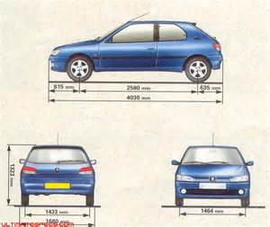 Peugeot 306 Dimensions Index Of Carblueprints 8