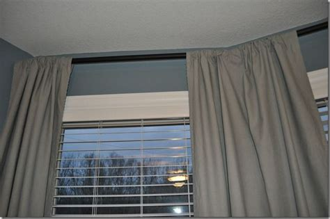 bay window curtain rod diy diy curtain rods