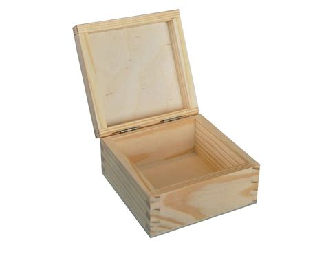 Small Storge Box plain wood wooden storage box jewellery small p10 5