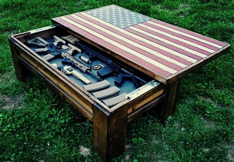 """""""OLD GLORY"""" Deluxe Home Defense Coffee Table (Multiple Style Options Available)"""