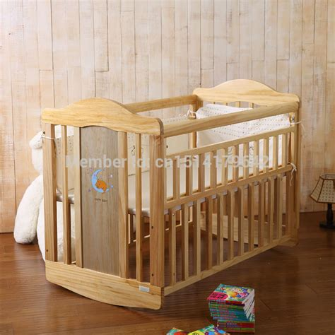 Baby Bed Pine Wood Bed Swing Crib Beds 2in1 Cribs In Baby Swing Cribs Baby