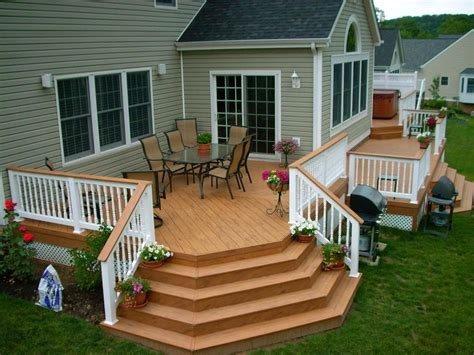 Backyard Deck Ideas For Small Backyard House Pinterest Designer Decks And Patios