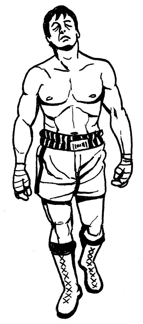 Rocky Balboa Coloring Pages how to draw rocky balboa