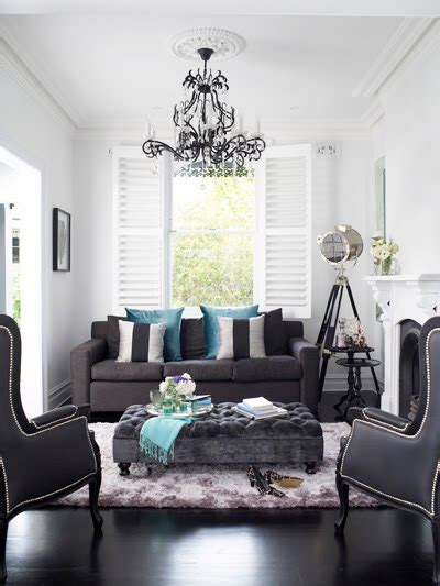 gray and black living rooms gray ottoman contemporary living room oliver interiors
