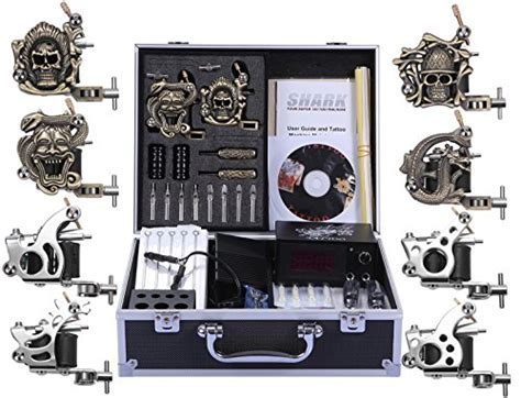 tattoo machine on carry on airplane shark complete pro tattoo kit 8 gun machines carry case