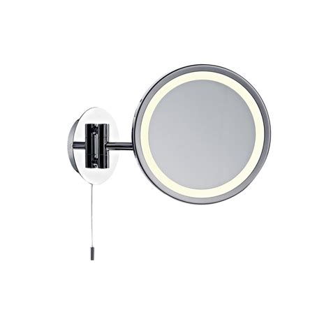 bathroom magnifying mirror with light dar gib93 gibson 1 light polished chrome magnifying mirror