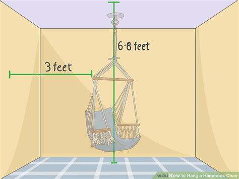 How To Hang A Hammock Chair Indoors by How To Hang A Hammock Chair 14 Steps With Pictures