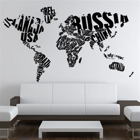 home decor wall sticker world map cutzz
