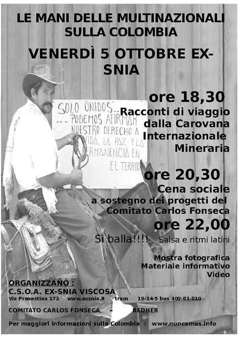 consolato colombiano roma iniziative archives nuncamas
