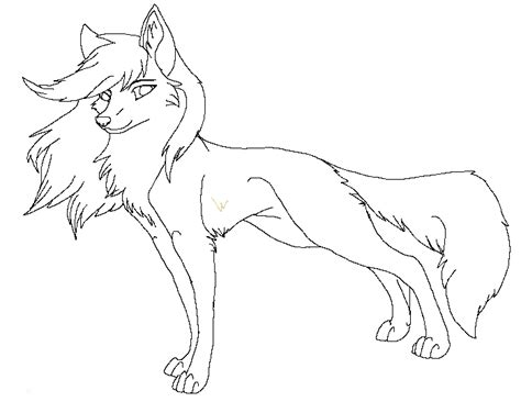 anime wolf girl coloring pages lineart wolf new 1 by raven morticia on deviantart