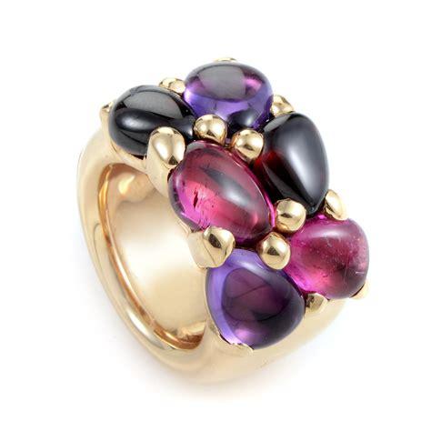 pomellato uk pomellato sassi 18k gold amethyst iolite ring ebay