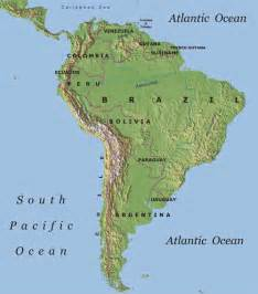 america map with mountains south america other maps