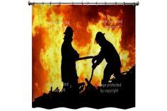fireman shower curtain 1000 images about vision shower curtains on pinterest