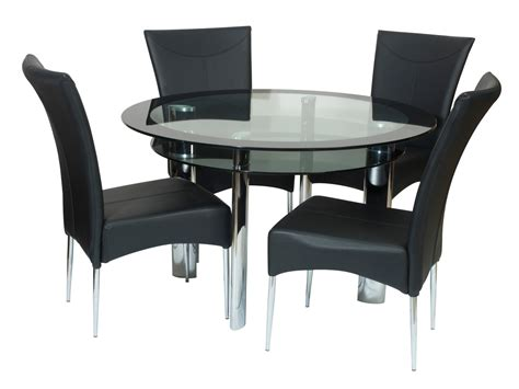 Black Dining Room Table And Chairs Black Glass Dining Room Table And Chairs Alliancemv