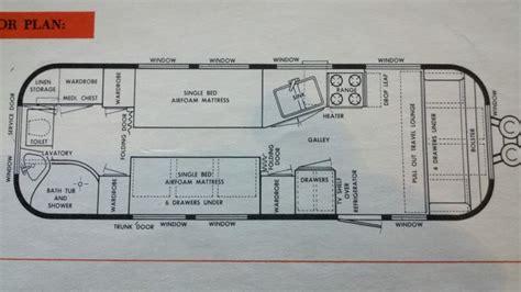 vintage airstream floor plans 1964 26 overlander airstream floorplan tiny spaces