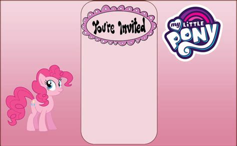 Pony Invitation Card Template by Free My Pony Printables Featuring Rainbow Dash