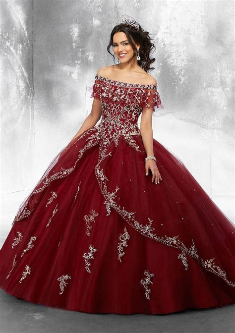 Vizcaya 89181 Off Shoulder Quinceanera Dress: French Novelty