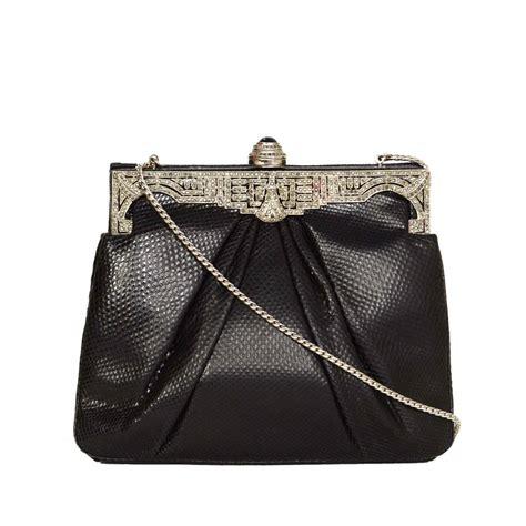 Judith Leiber Top 10 Evening Bags by Judith Leiber Black Lizard Skin And Rhinestone Evening Bag