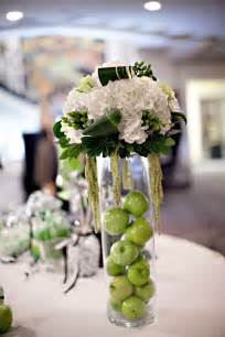 flowers centerpieces for wedding ivory green and black wedding reception