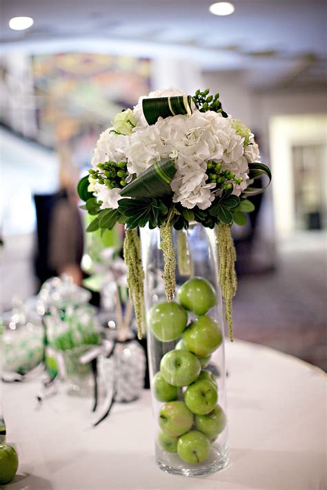 ivory green and black wedding reception