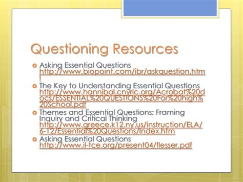 essential questions for themes in literature essential questions
