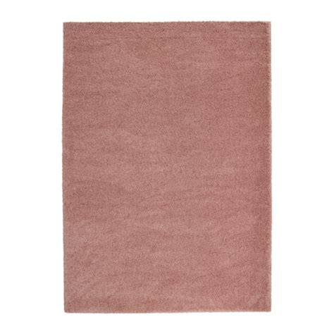 ikea adum 197 dum rug high pile light brown pink 170x240 cm ikea