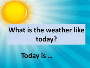 What Is The Weather In Today What Is The Weather Like Today