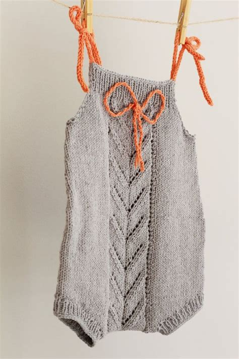 Baby Overall Grey knit romper grey overalls style