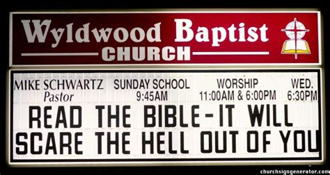 10 Signs Hell Be In Bed by The Funky World Of Church Signs Twistededge Where