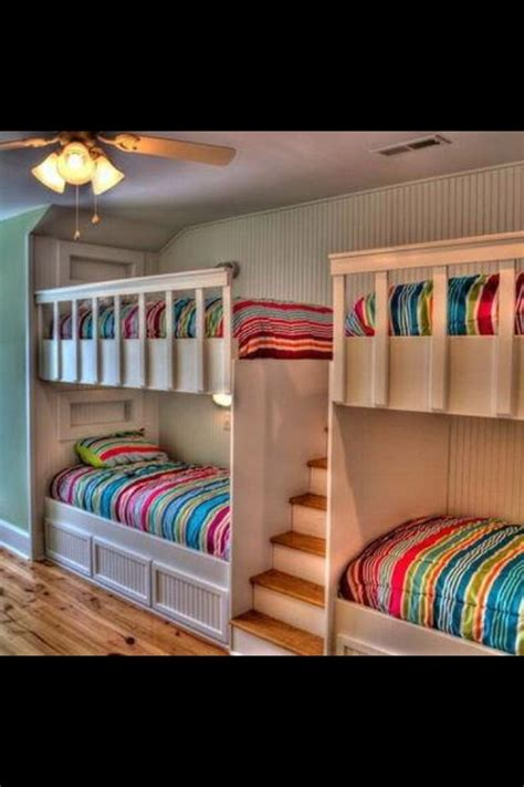 creative bunk beds creative quad bunk bed my dream home pinterest