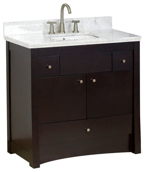 Bathroom Vanity Base Only Transitional Birch Vanity Base Only In Antique Walnut 35 Quot X17 5 Quot Transitional Bathroom