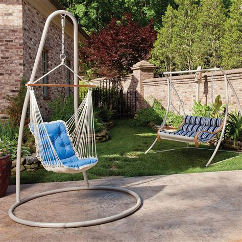 single swing chair with stand hammock source single swing stand sturdy support for
