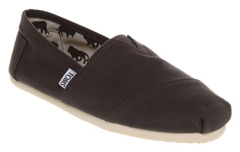 ebay toms shoes mens toms classic slip ons ash canvas casual shoes ebay