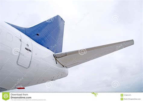 tail section of an airplane tail of aircraft stock image image 11561471